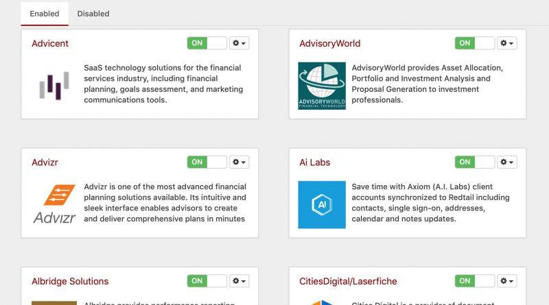 Redtail CRM integrations screenshot