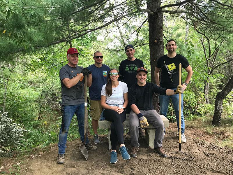 Hannah Tackett and Team at cleanup