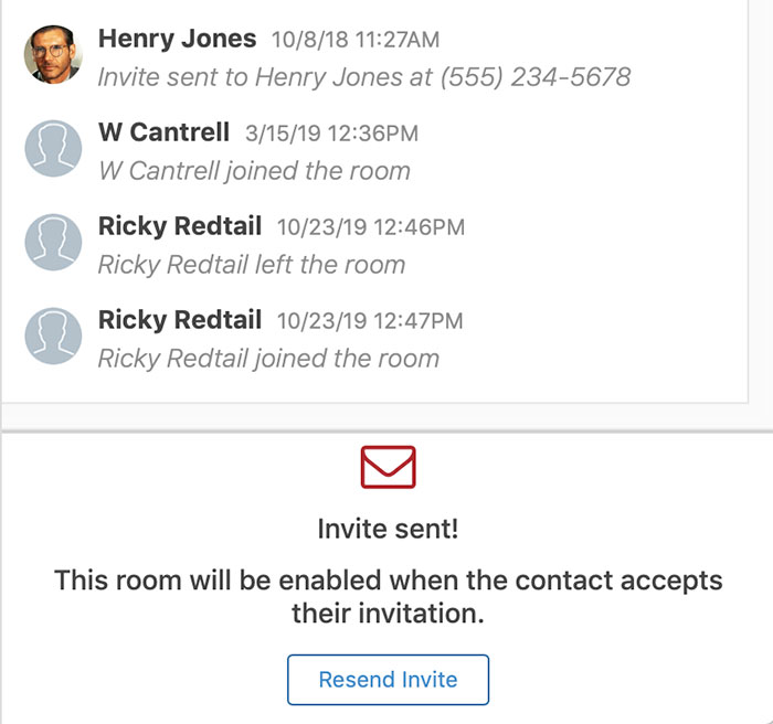Redtail speak chat with a team screenshot