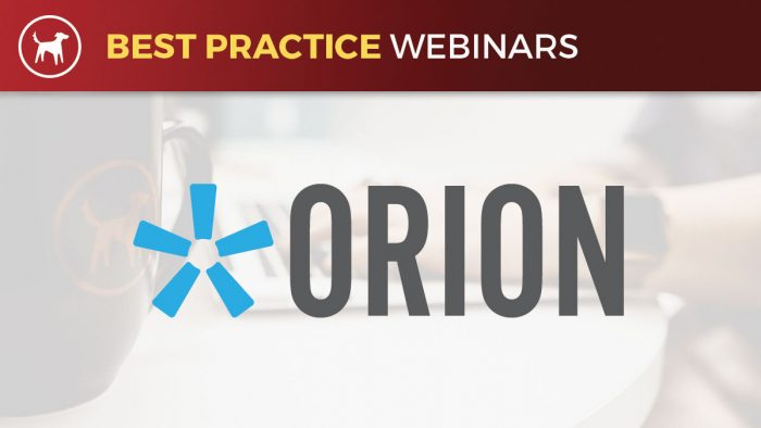 Best Practice Webinar - Orion