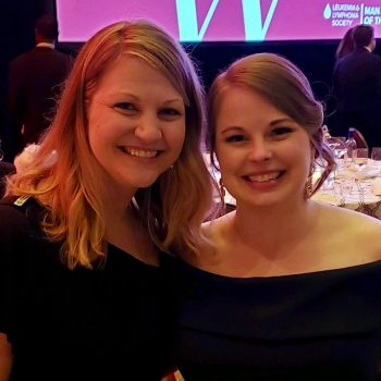 Katie and best friend Stephanie at Leukemia & Lymphoma Society Presents Man & Woman of the Year